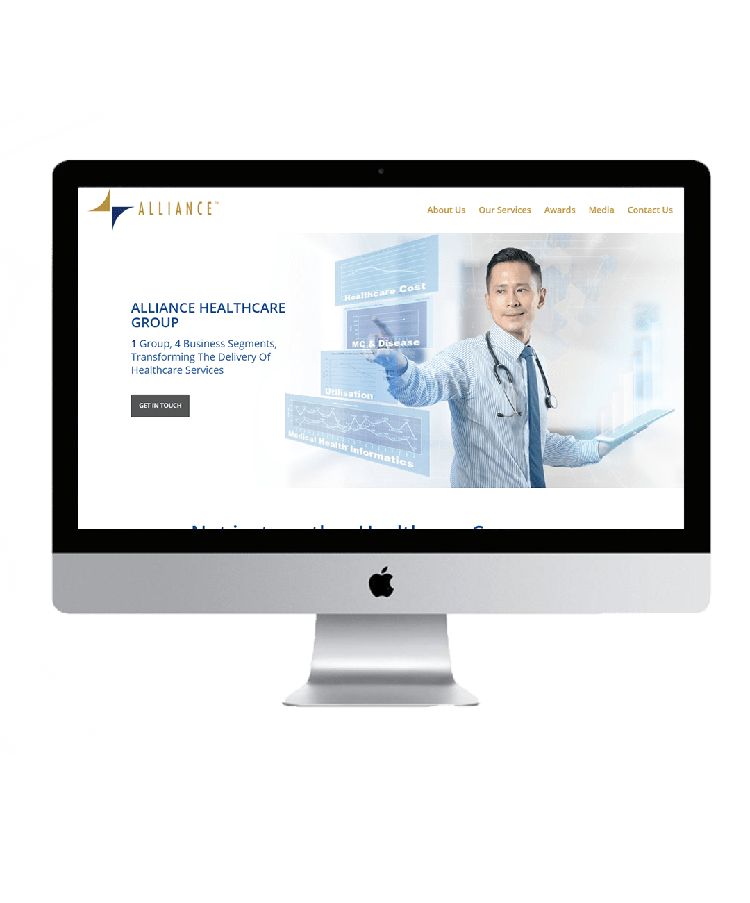 Alliance Healthcare website showcase 1