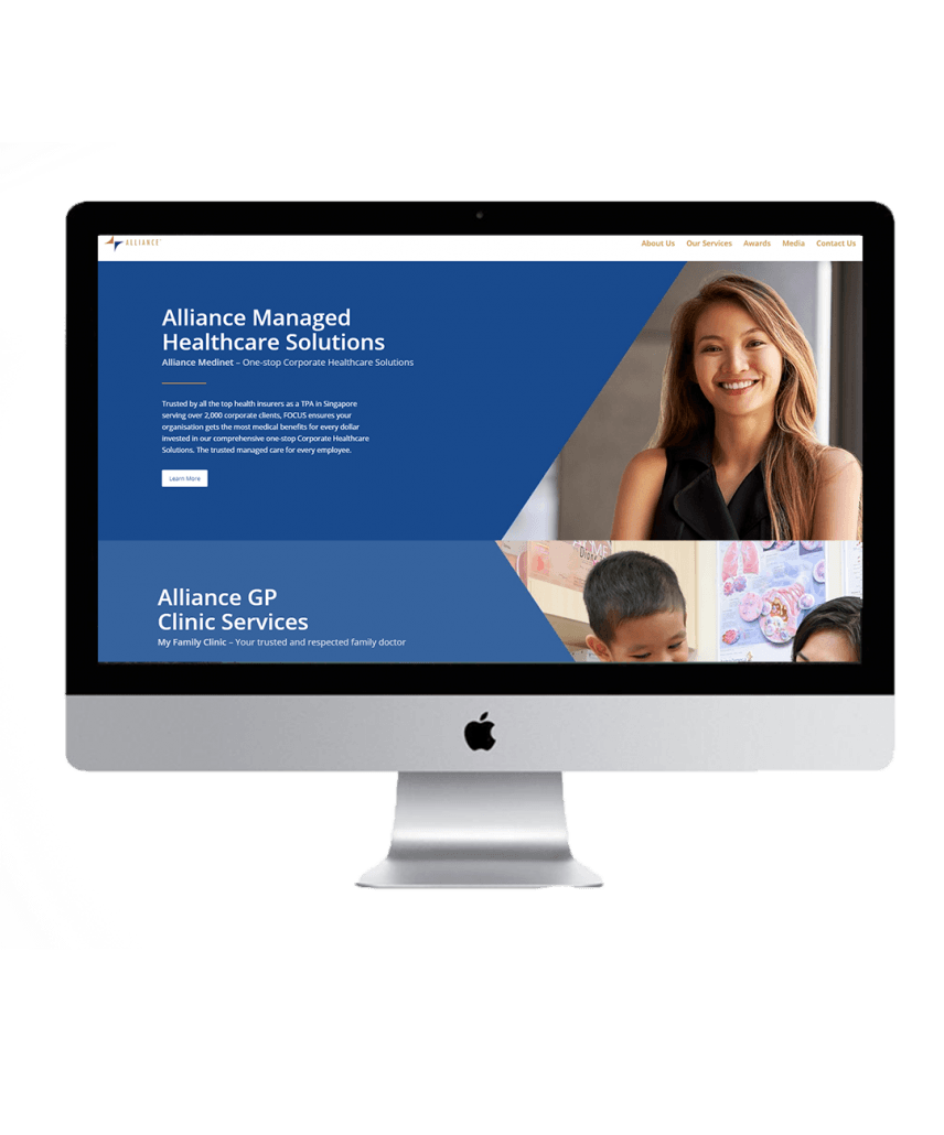 Alliance Healthcare website showcase 2