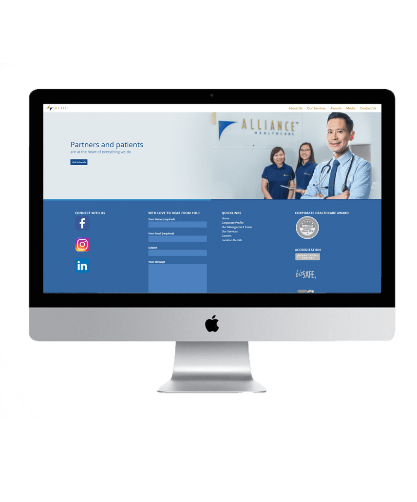 Alliance Healthcare website showcase 3